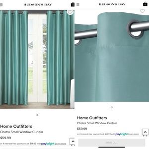 New Teal Curtains/ Drapes 54x84